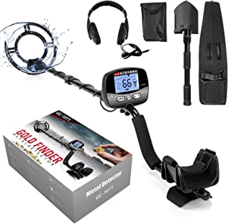 Professional Metal Detector for Adults, Adjustable 9 Identification Levels & 10 Levels of Sensitivity with PinPoint Functi...