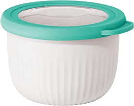 Oggi Mix, Store & Serve Bowl w/See-Thru Lid, 0.6 Quart, White