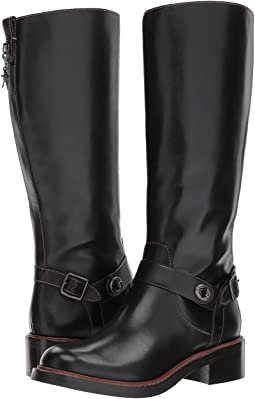 COACH Sutton Boot,Black Leather