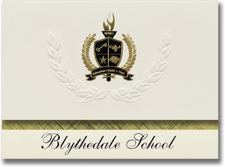 Signature Ankündigungen blythedale Schule (Valhalla, (Valhalla, (Valhalla, NY) Graduation Ankündigungen, Presidential Stil, Elite Paket 25 Stück mit Gold & Schwarz Metallic Folie Dichtung B078VCJFZN   | Ausgezeichnet (in) Qualität  fec989