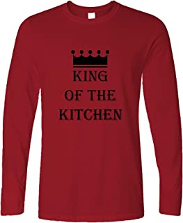 Tim And Ted Chef's Cooking Long Sleeve King of The Kitchen Slogan