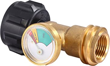 Champs Universal Propane Tank Gauge Detector for QCC1 / Type1 Propane Tank Cylinders Gas Pressure Meter [100% Solid Brass]