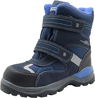 Apakowa Kids Boys Cold Weather Winter Snow Boots (Toddler/Little Kid/Big Kid)