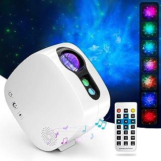 پروژکتور ستاره با بلندگوی بلوتوث ، چراغ شب KAHE LED با کنترل از راه دور ، پروژکتور نور رنگی Galaxy Nebula برای سقف دکوراسیون اتاق خواب ، پروژکتور نورگیر برای مهمانی و تاریخ