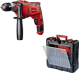 comprar comparacion Einhell Pack taladro percutor y 15 piezas de perforación (TC-ID 1000 Kit), 1010 W, 230V, color rojo y negro (ref. 4259838)