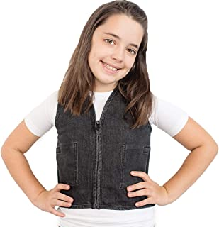 Fun and Function's Stretch Denim Weighted Vest to Reduce Wiggles, Fidgets, Anxiety