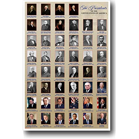 "USA Presidents poster 24 x 36/"" Smithsonian Institute WITHOUT DONALD TRUMP !"