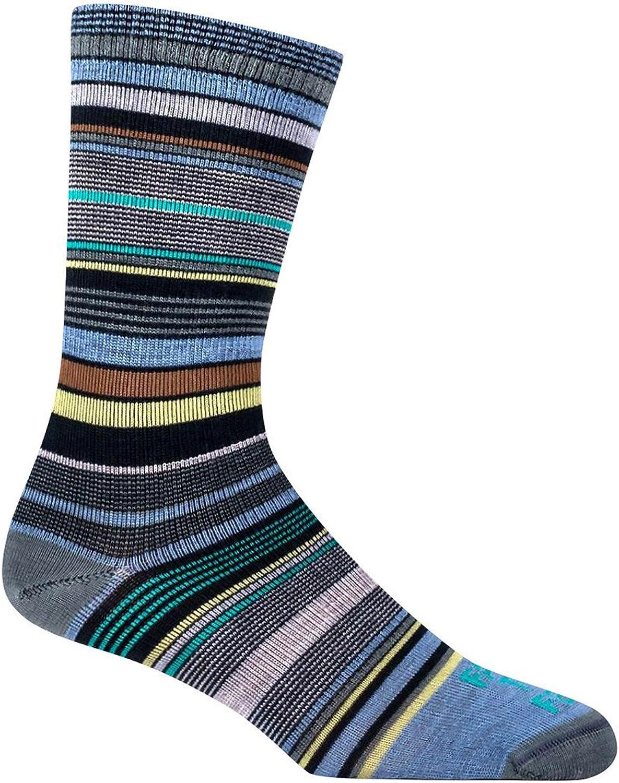 Farm to Feet Ithaca Multi-Stripe Ultralight Crew Sock
