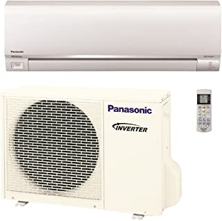 Panasonic Exterios E 9,000 BTU Ductless Mini Split Air Conditioning and Heating System, Indoor and Outdoor Set with Wireless Remote (208/230V)