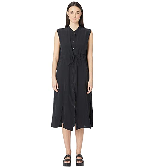 Jil Sander Navy Woven Dress