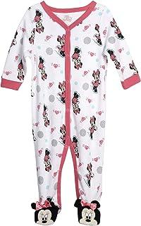 Disney Baby Girls' Sleep N' Play Footie: Minnie Mouse, Daisy Duck, Pooh Bear, Princess (Newborn)
