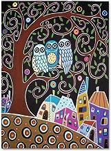 Three Owls by Karla Gerard, 14x19-Inch Canvas Wall Art