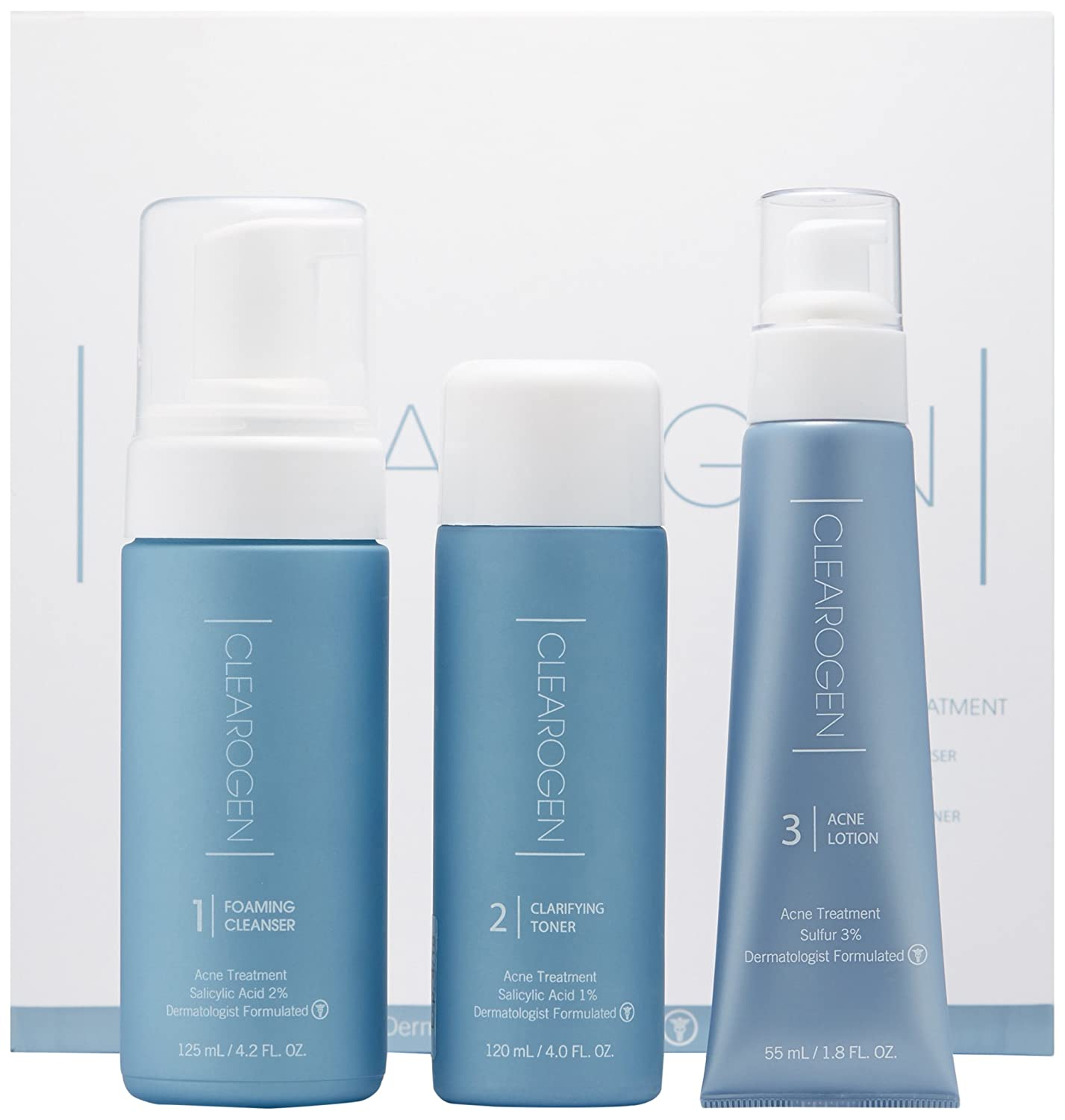 Clearogen Hormonal Acne Solution Natural Milwaukee Mall Max 65% OFF Set Anti-DHT Deluxe
