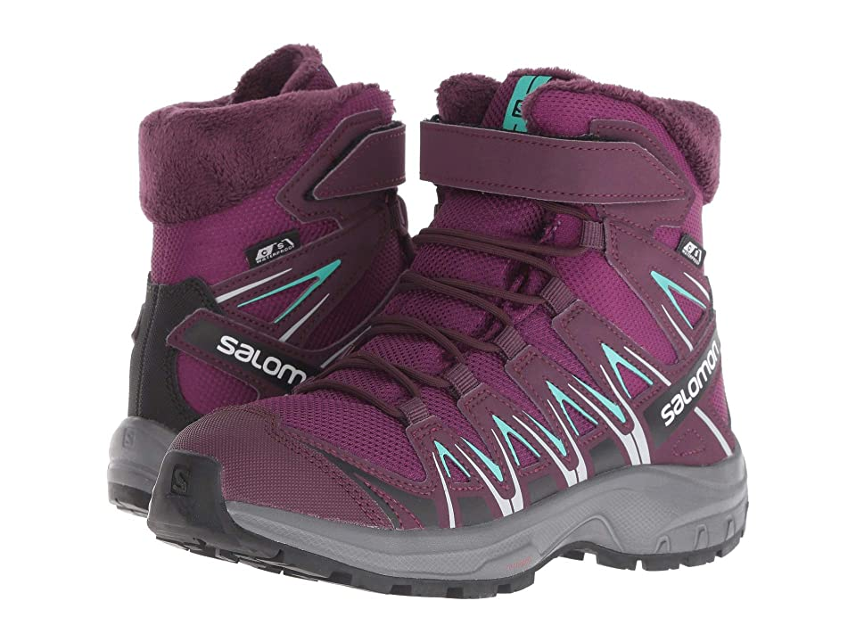 Salomon Kids XA Pro 3D Winter TS CSWP (Little Kid/Big Kid) (Dark Purple/Potent Purple/Atlantis) Girls Shoes