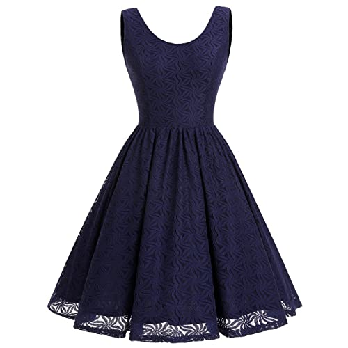 f77eb07c2a2 ALAGIRLS Women Floral Lace Bridesmaid Party Dress Short Prom Dress V Back