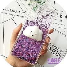 Cute 3D Squishy Cat Case for Huawei P20 pro P8 P9 lite P10 Plus Liquid Glitter Phone Case Mate 9 Y5 GR5 2017 Y6 II Y9 2018 Cover,Quiksand Purple,for Huawei p9 Plus