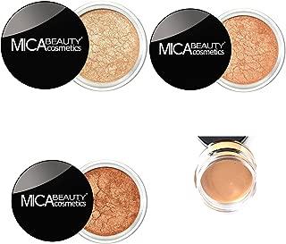 Bundle 4 Items: 3x Mica Beauty Eye Shadows Shimmer #8 Tease #13, #17 +Itay mineral Eye Primer