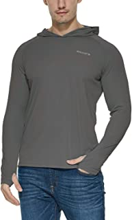 Baleaf Men's UPF 50+ Sun Protection Hoodie Long Sleeve Performance T-Shirt