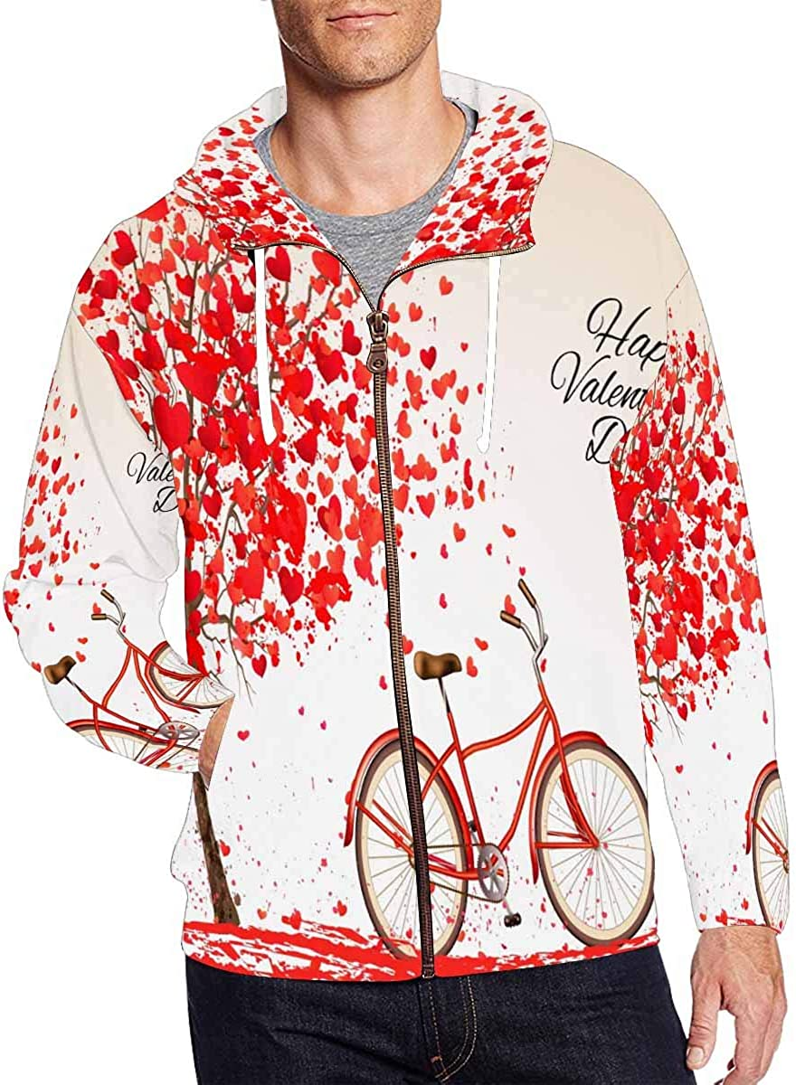 Max 81% OFF InterestPrint Men's Lightweight Full Zip Day Hoodie 2021new shipping free shipping Valentine's