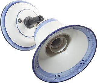 VANNI LAMPADARI - Lampada Da Parete art. 001/352 Orientabile Tipo Spot In Ceramica Decorata A Mano Disponibile In 5 Finiture