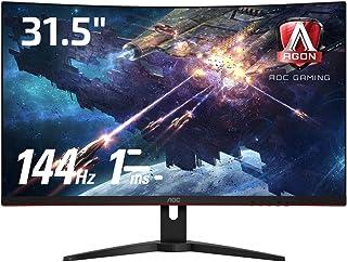 AOC ゲーミング モニター C32G1/11 (31.5インチ/144Hz/1ms/VA 曲面パネル/HDMI×2 DP×1)