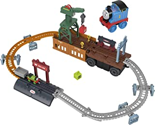 Fisher-Price Thomas & Friends 2-in-1 Transforming Thomas Playset, push-along train and track set with storage and working ...