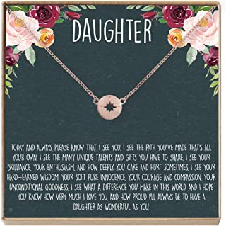 rose gold daughter necklace
