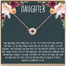 Daughter Necklace - Heartfelt Card & Jewelry Gift for Birthday, Holiday & More