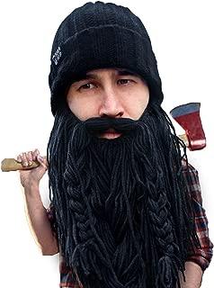 Beard Head Barbarian Roadie Beard Beanie -Funny Knit Hat and Fake Beard Facemask