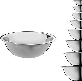 3 l impilabili con coperchio rosso e fondo in silicone Homikit Set di 5 ciotole per insalata in acciaio inox 1,5 l multifunzione 2,5 l 8 l lavabili in lavastoviglie 5 l