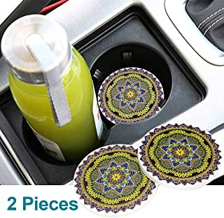 Funsport 2.75 Inch Diameter Oval Tough Logo Vehicle Travel Auto Cup Holder Insert Coaster Can 2 Pcs Pack for Bohemian Acce...