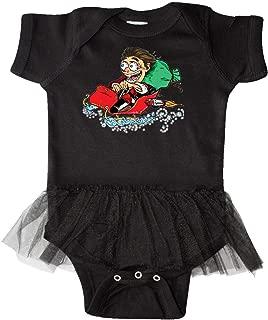 inktastic Hot Roddin' Rod in Santa's Sleigh Infant Tutu Bodysuit