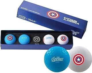 Volvik Vivid Marvel Golf Balls Spider-Man 4-Ball Pack