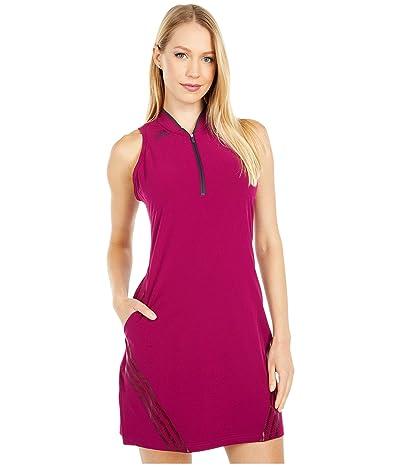 adidas Golf 3-Stripes Sport Dress (Power Berry) Women