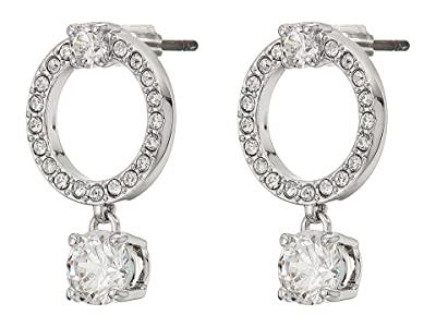 Swarovski Attract Circle Pierced Earrings (Silver) Earring