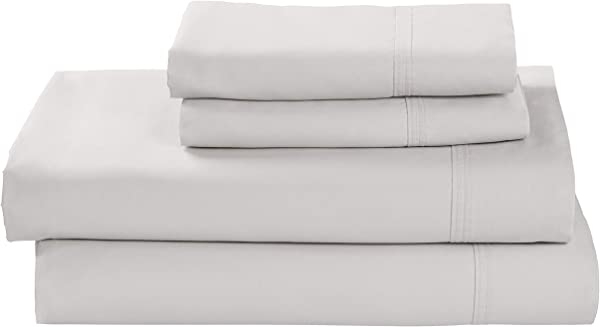 Stone Beam 100 Supima Cotton Bed Sheet Set Soft And Easy Care King White