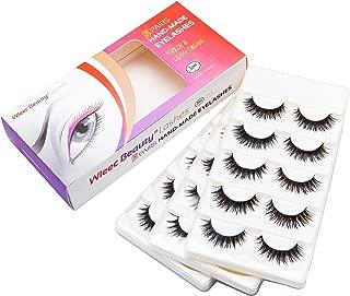 Wleec Beauty False Eyelash Pack Natural Strip Lashes Handmade Eyelashes Set #28 (15 Pairs/3 Pack)