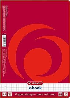 Herlitz 432435 Lot de 100 feuilles de papier A4 Linéature 28