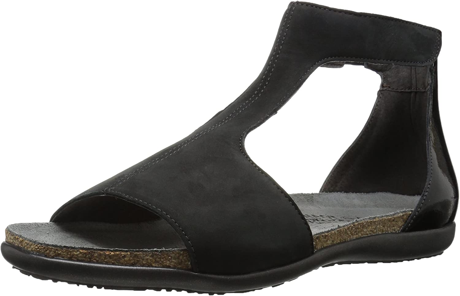 Naot Nala, Velvet Nubuck Black Luster Leather, 35 (US Women's 4) M