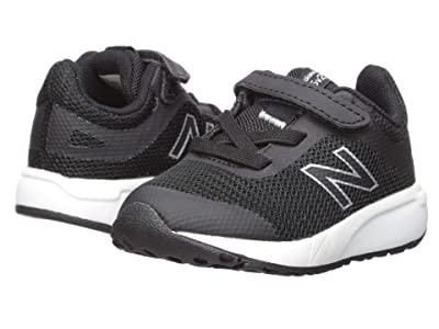 New Balance Kids 455v2 (Infant/Toddler) (Black/White) Girls Shoes