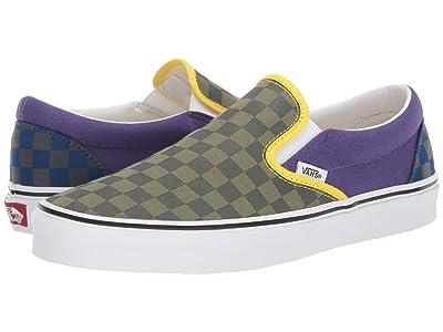 Vans Classic Slip-Ontm ((OTW Rally) Green/Purple/Blue) Skate Shoes