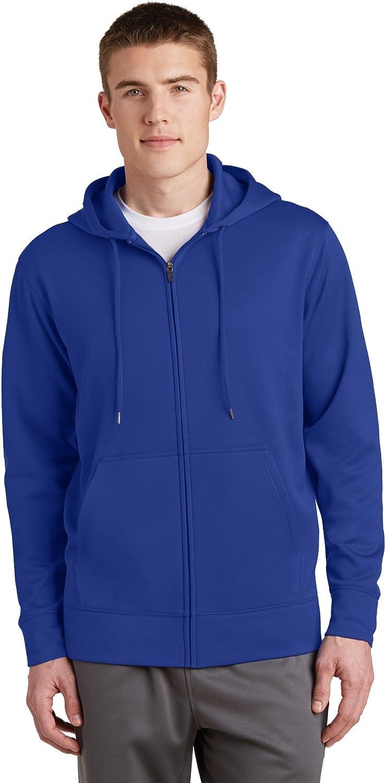 Sport-Tek Sport-Wick Fleece Full-Zip Hooded Jacket ST238 True Royal XS