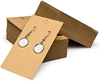 Sponsored Ad - Bastex 200 Pack Earring Cards for Jewelry Display. Earring Tags Packaging for in Store Selling, Boutique Di...
