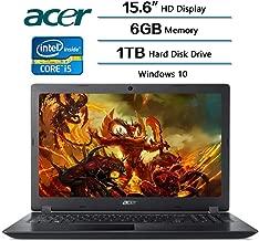Acer Aspire 3 Laptop 15.6 inch HD Display, Intel Core i5-7200U 2.5 GHz, 6 GB DDR4 SDRAM Memory, 1 TB Hard Disk Drive, Intel HD Graphics 620, Windows 10