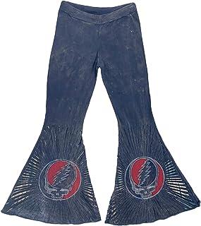 Jayli Dupree Pants - Cotton Lycra Stonewashed Razor Cut Steal Your Face Bell Bottom Pants | Grateful Dead | GD-S19-68