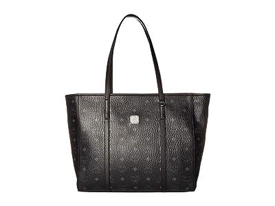 MCM Toni Visetos Shopper Medium (Black) Bags