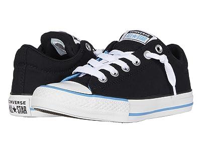 Converse Kids Chuck Taylor(r) All Star(r) Street Varsity Slip-On (Little Kid/Big Kid) (Black/White/Coast) Boy