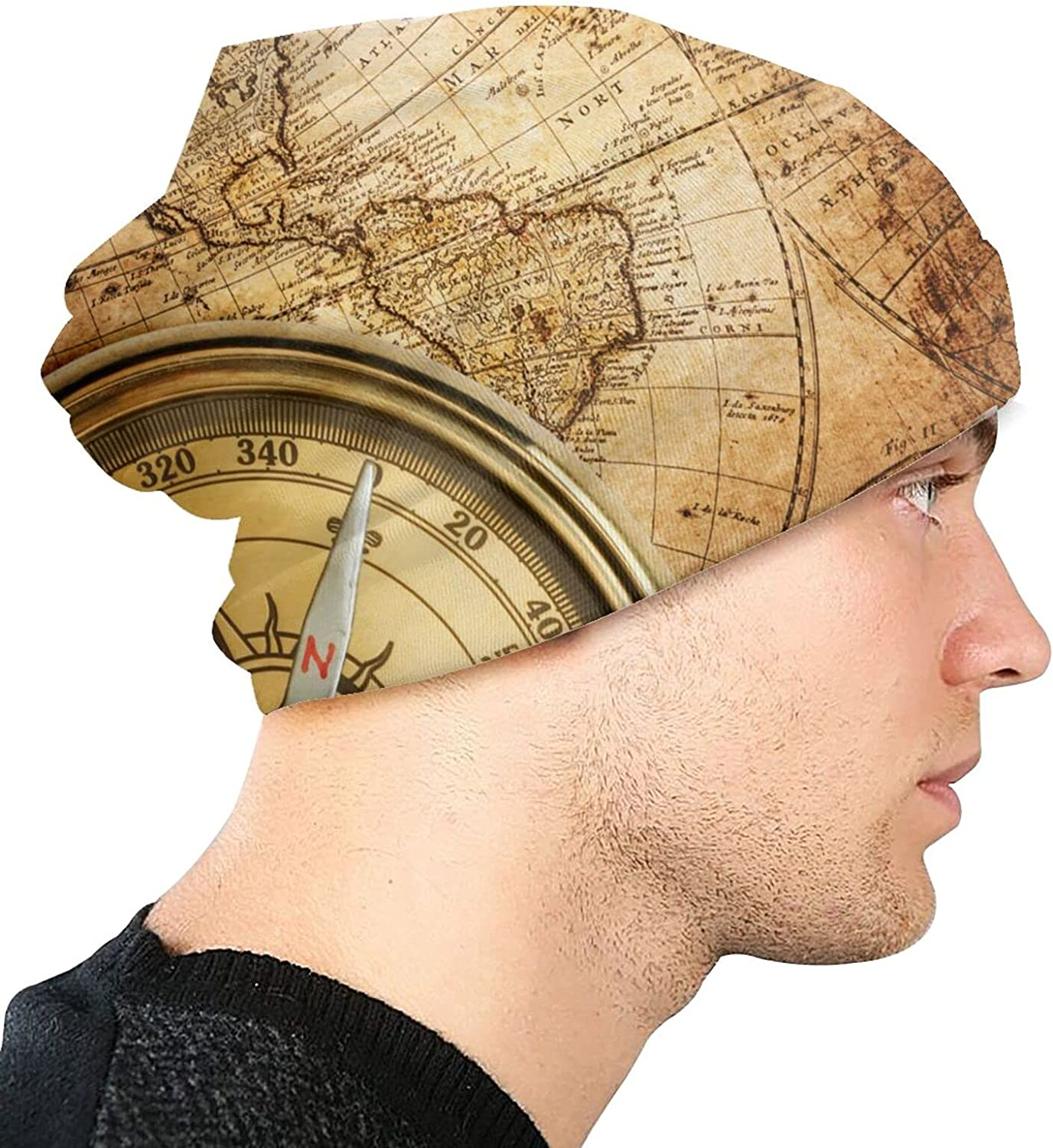ZENGCY Limited time Max 58% OFF cheap sale Compass Rose Classic Maps Adult Fl Polar Knit Hat Fashion