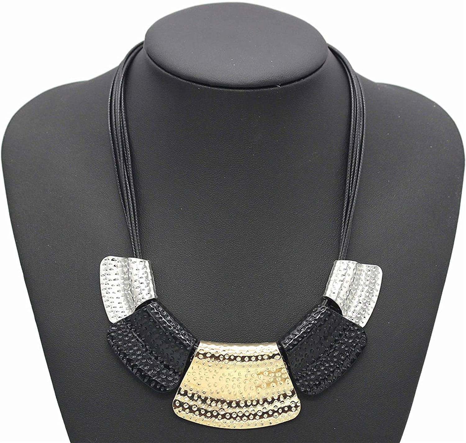 Usful Jewelry Decoration Personality Gold Wax Rope Short Necklace False Collar Accessories Multi-Layer