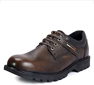 Bacca Bucci Real Leather Steel Toe Cap Lace up Combat Boots